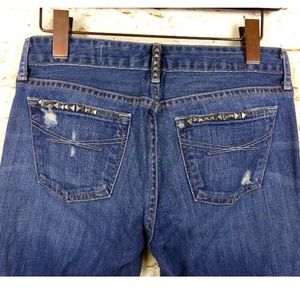 GAP Jeans - Gap Limited Studded Sexy Boot Distressed Jeans